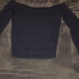 Abercrombie & Fitch navy blue long sleeve